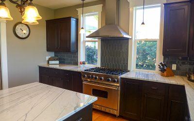 Gorgeous gray and white kitchen