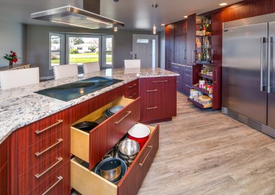 Stunning cabinetry in a newly opened kitchen
